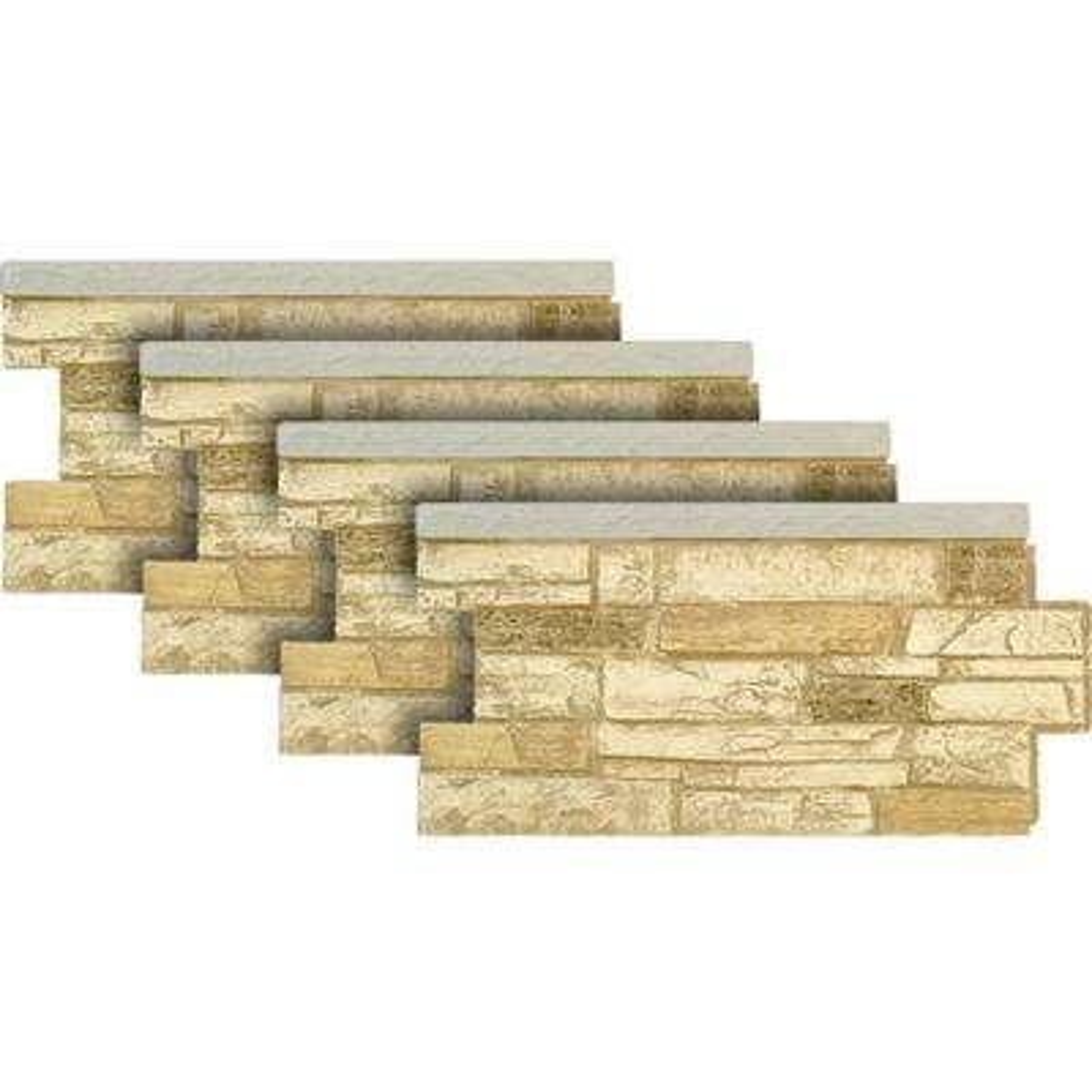 Ledgestone Wainscot #35 Desert Tan 48 in. x 24 in. Stone Veneer Panel (4-Pack)