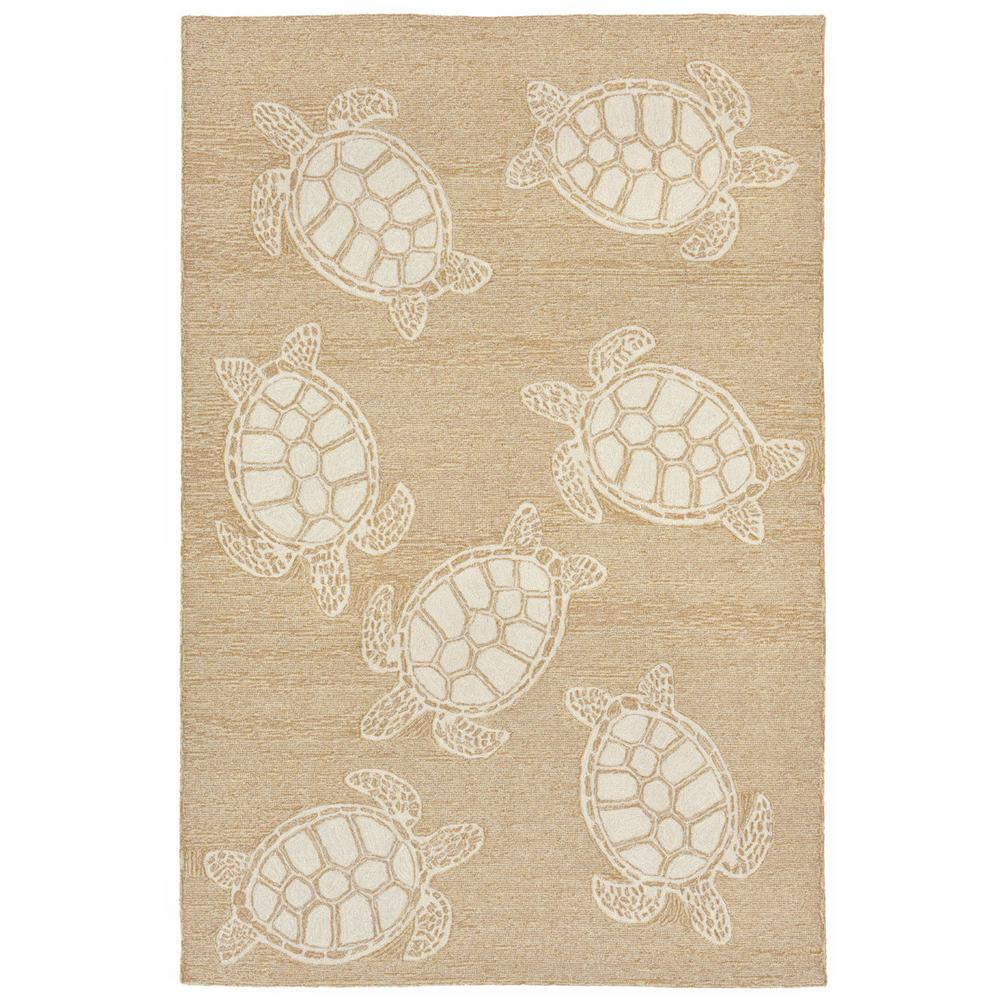 Lucca Sea Reptile Neutral 8 Ft. X 10 Ft. Rectangle Indoor