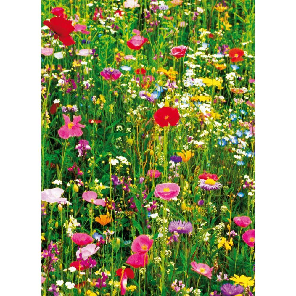 Ideal Decor 100 in. x 72 in. Flower Field Wall Mural