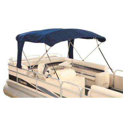 8 ft. x 8 ft. Buggy-Style Pontoon Bimini Top Fabric for 1 in. Tubing in Blue Acrylic