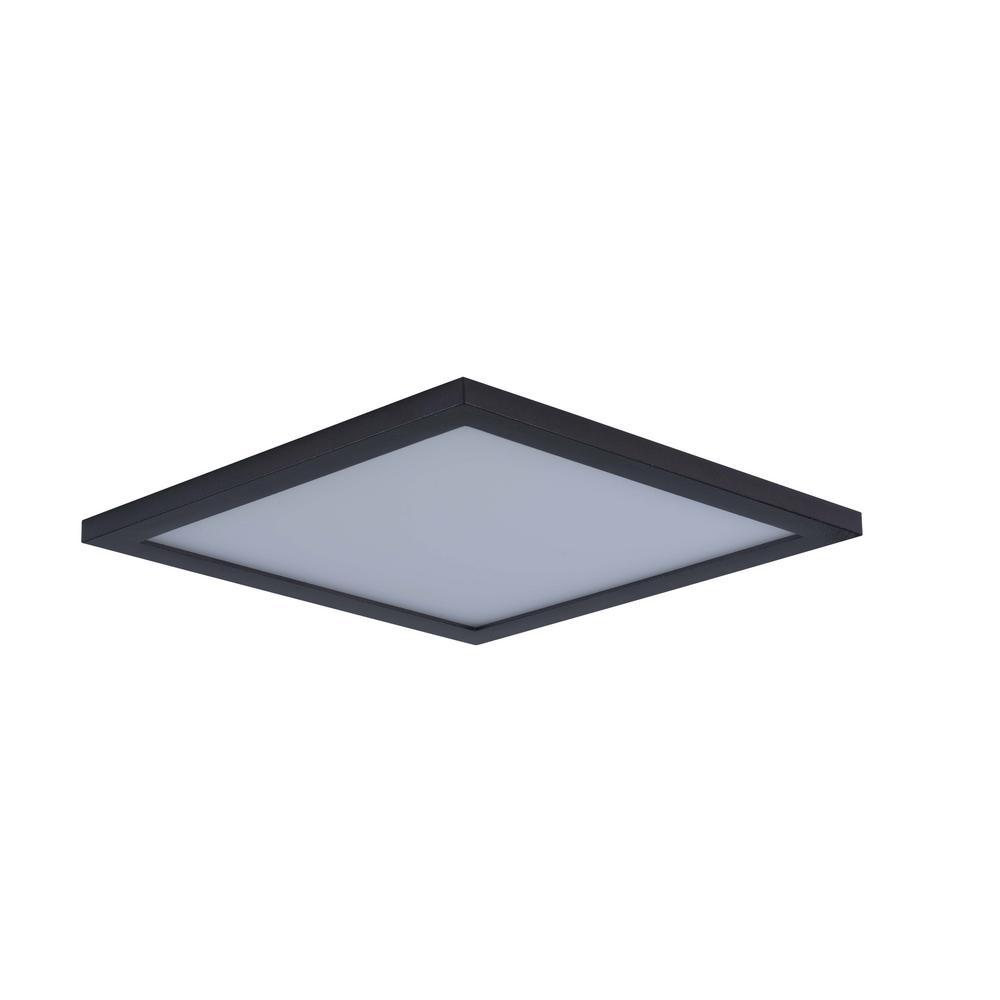 Wafer 15 in. Bronze Integrated LED Flushmount Light