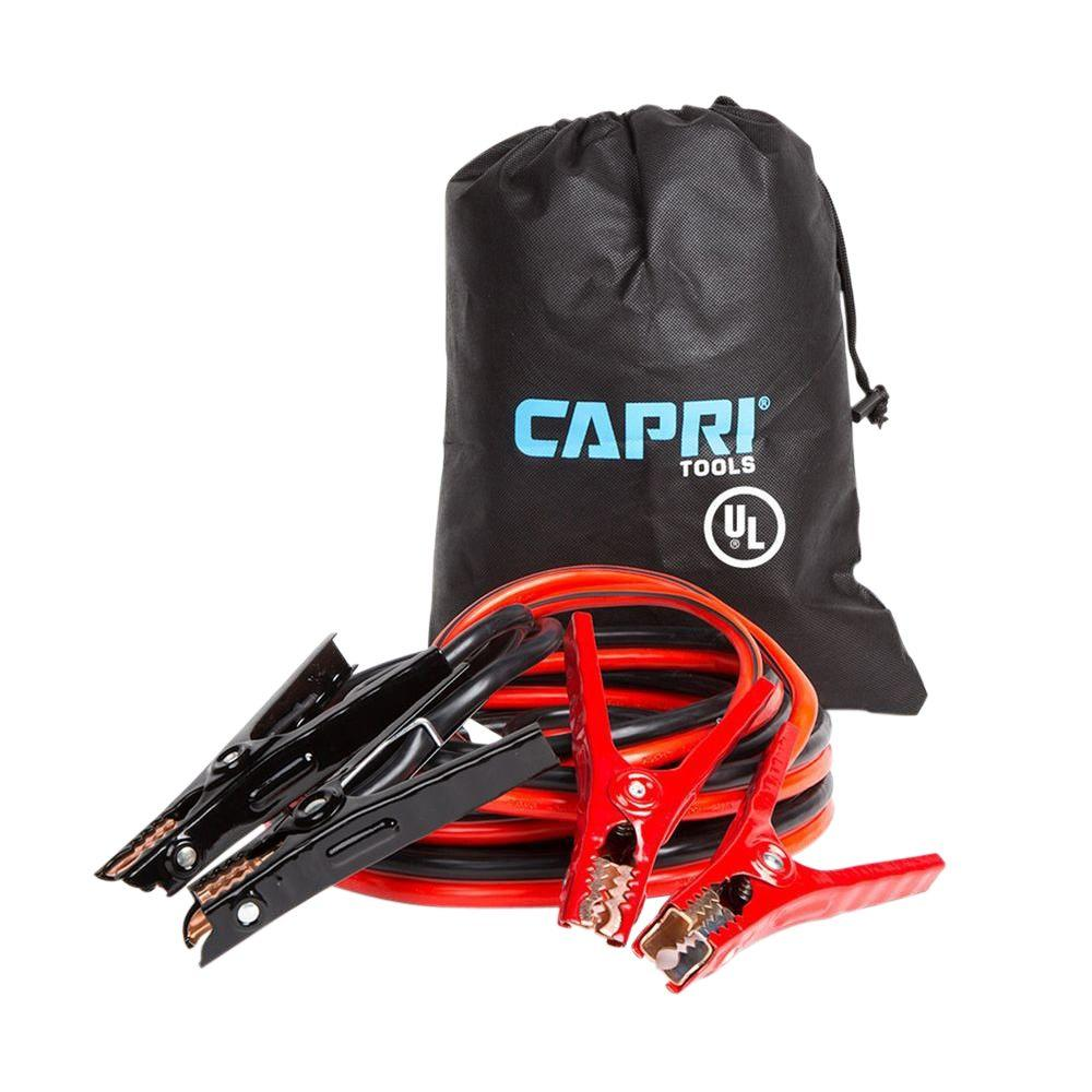 Jumper Cable Bag : Capri tools ft gauge ul listed booster cable with
