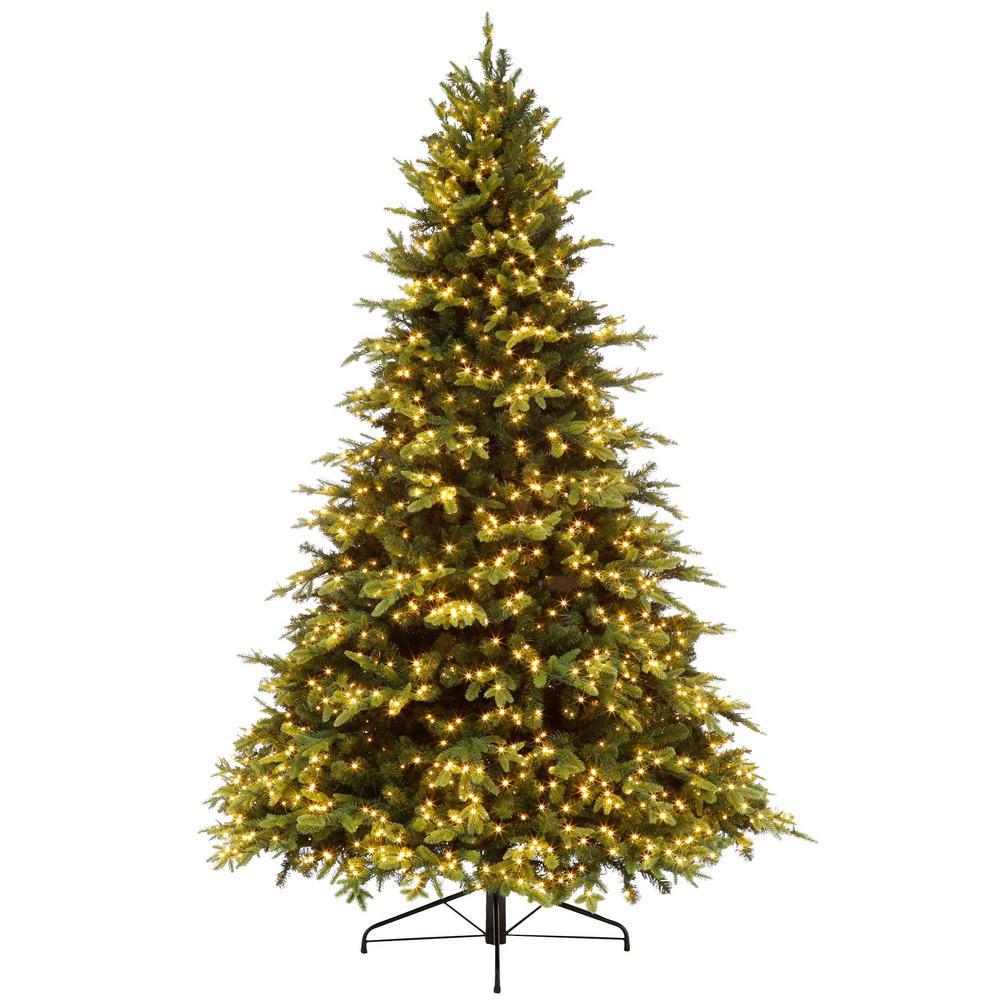 7.5 ft. Pre-Lit Swiss Mountain Spruce Quick Set Tree