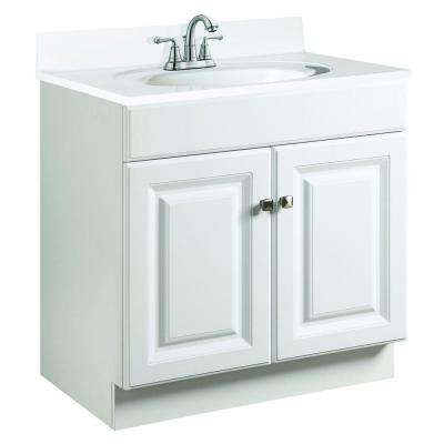 Wyndham 30 in. W x 21 in. D Unassembled Vanity Cabinet Only in White Semi-Gloss
