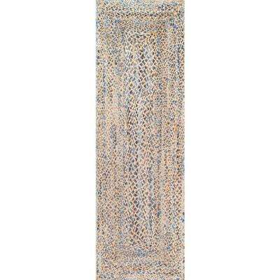 Eliz Jute Blue 3 ft. x 8 ft. Runner Rug