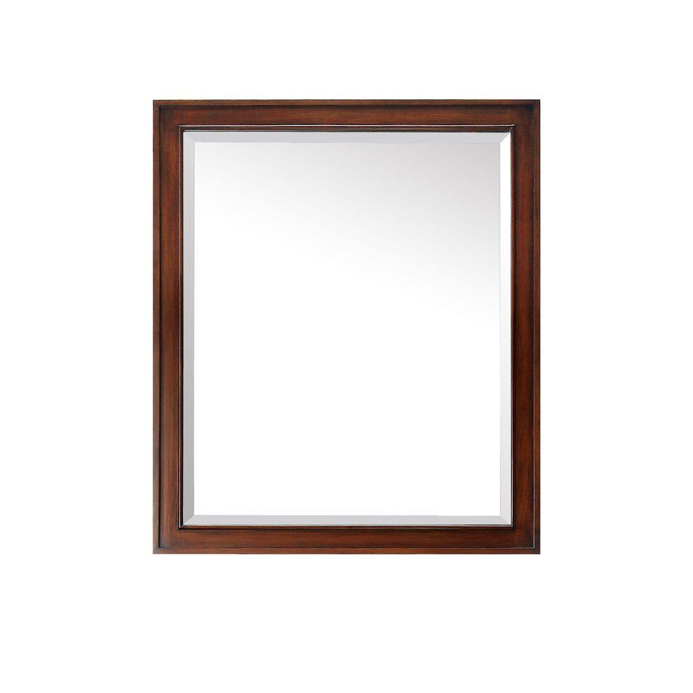 Brentwood 35 in. L x 30 in. W Single Wall Mirror in Walnut