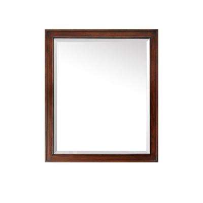 Brentwood 35 in. L x 30 in. W Single Wall Mirror in Walnut