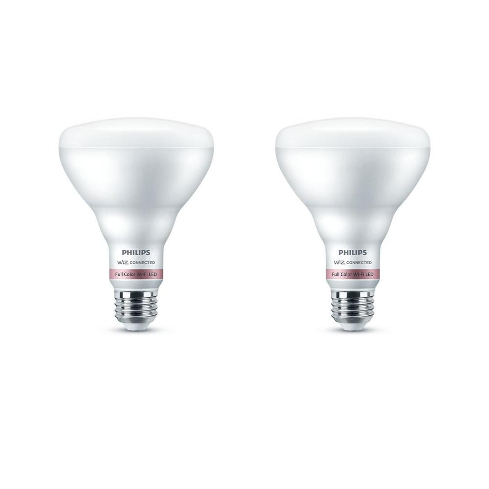 Philips Color and Tunable White BR30 LED 65-Watt Equivalent Dimmable Smart Wi-Fi Wiz Connected Wireless Light Bulb (2-Pack)