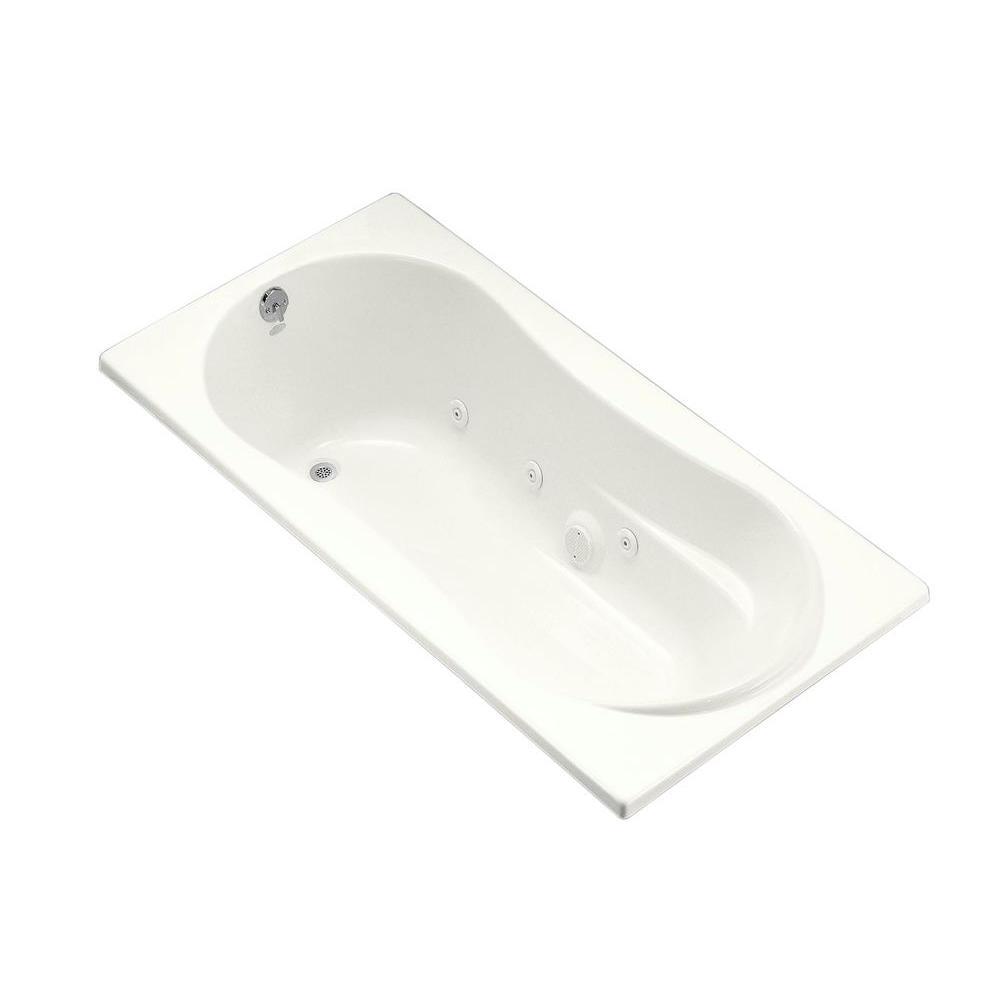 KOHLER 7236 6 ft. Whirlpool Tub with Reversible Drain in Biscuit