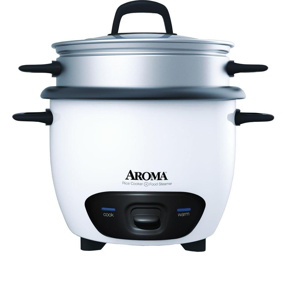 AROMA AROMA Pot-Style 6-Cup White Rice Cooker