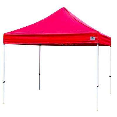 Festival 10 ft. W x 10 ft. D Instant Canopy in Red