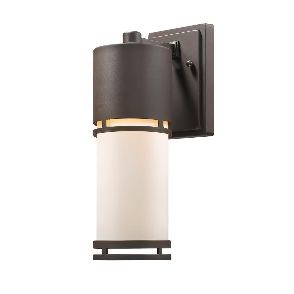Seija 60-Watt Equivalent Outdoor Deep Bronze Integrated LED Wall Mount Sconce