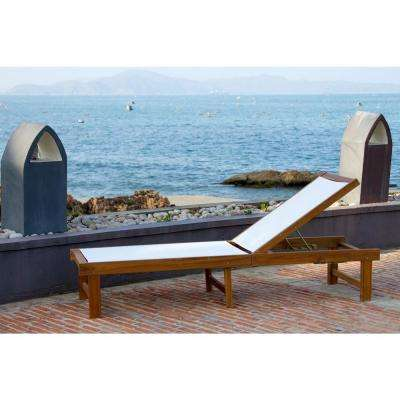 Manteca Teak Brown Outdoor Patio Lounge Chair