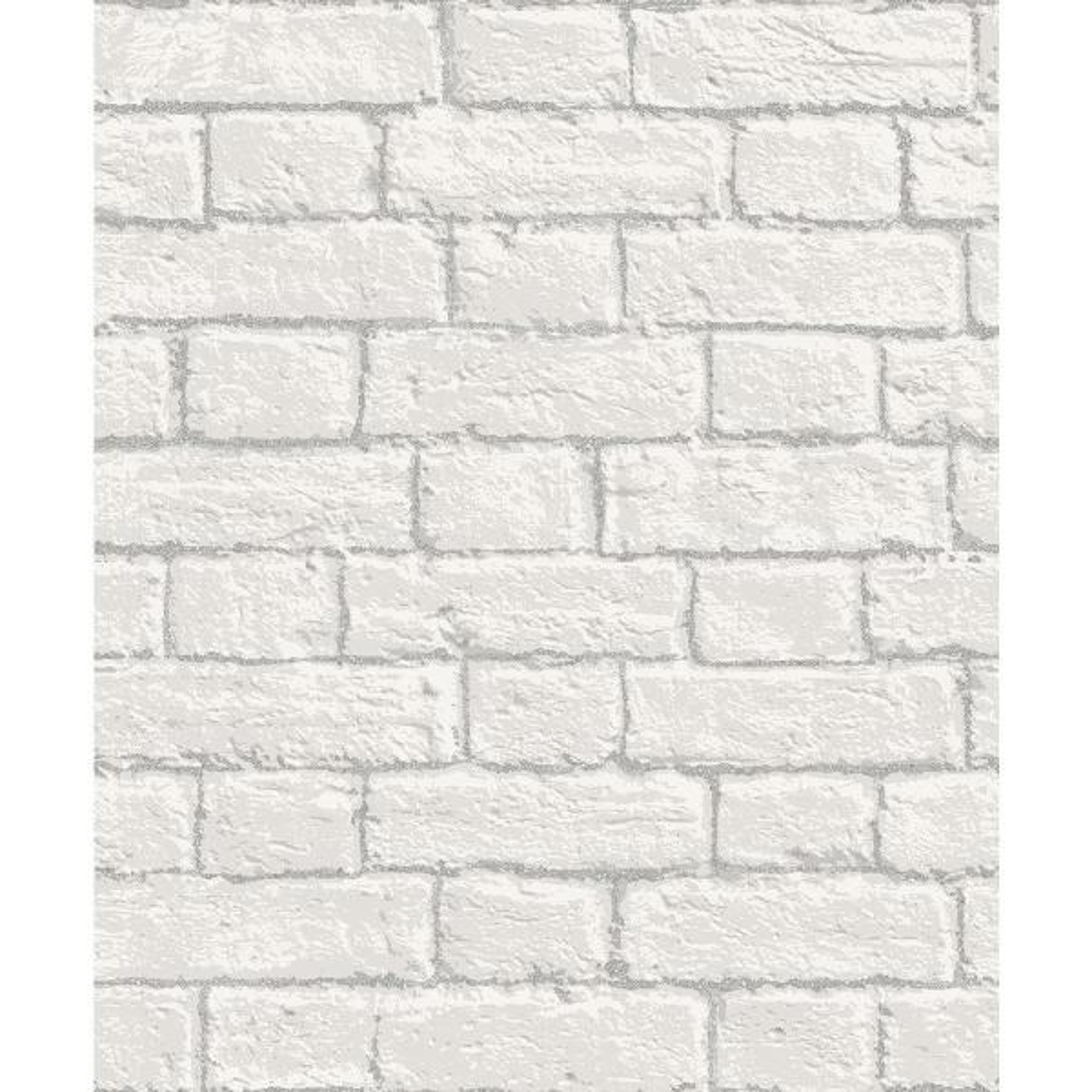 Coloroll 8 in. x 10 in. Ditmas White Brick Sample