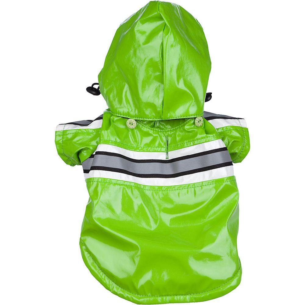 X-Small Green Reflecta Glow PVC Raincoat
