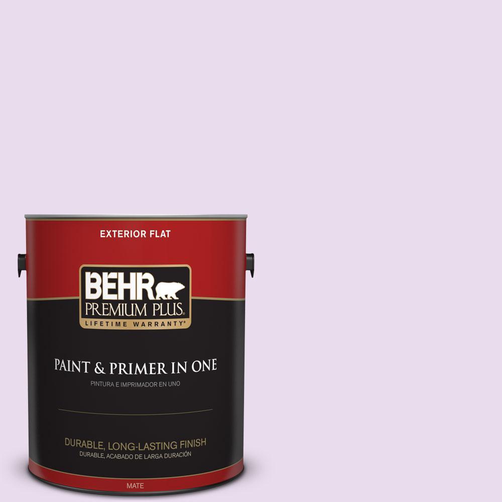 BEHR Premium Plus 1-gal. #P100-1 Sprinkle Flat Exterior Paint