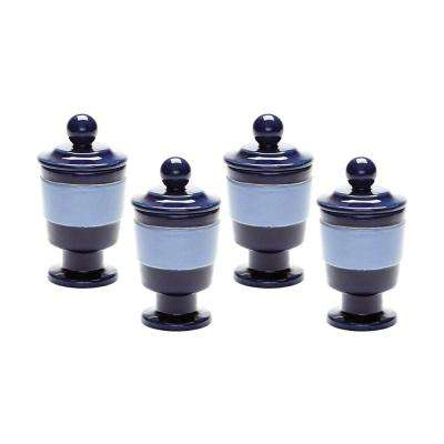 Navy and Denim Polar Filled Votive (Set of 4)