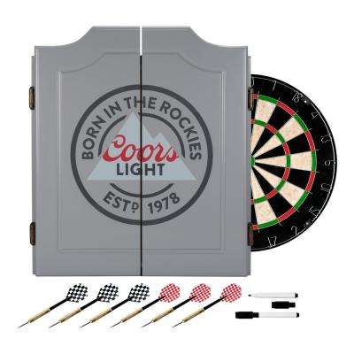 24 in. Coors Light Dartboard Set