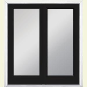 Masonite 60 in x 80 in jet black prehung right hand - Installing prehung exterior door on concrete ...