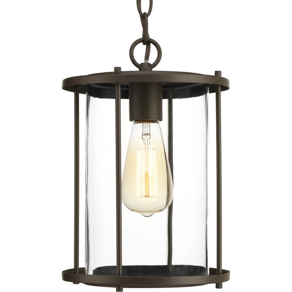 Progress Lighting Gunther Collection Antique Bronze 1 Light Outdoor Hanging Lantern