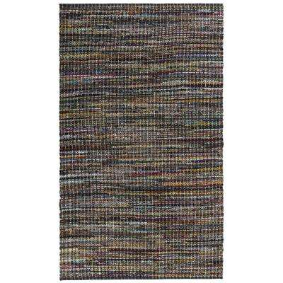 Grey Cotton 4 ft. x 6 ft. Area Rag Rug