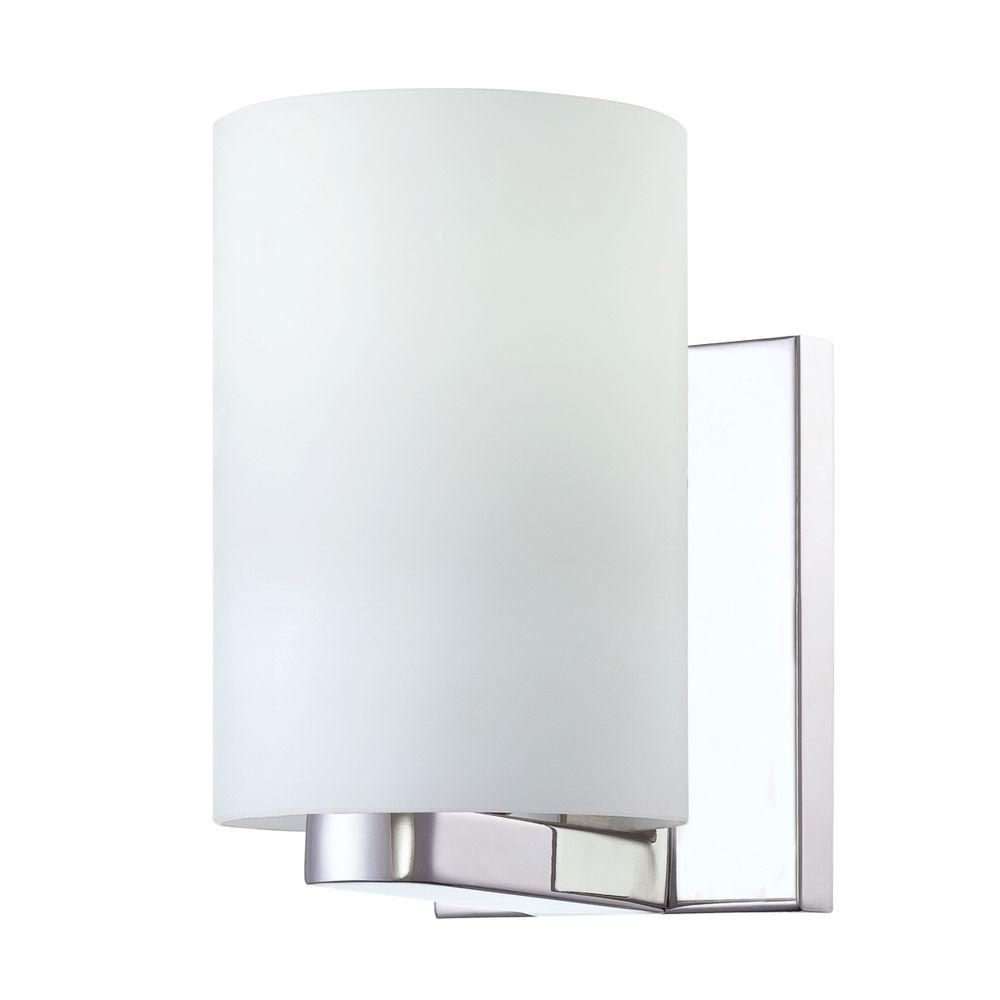 Pilos Collection 1-Light Chrome Wall Sconce