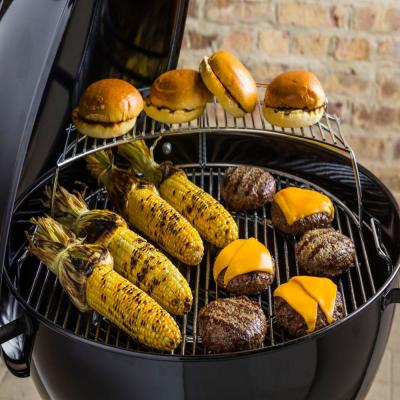 Weber 22 in. Master-Touch Charcoal Grill in Black with Built-In Thermometer