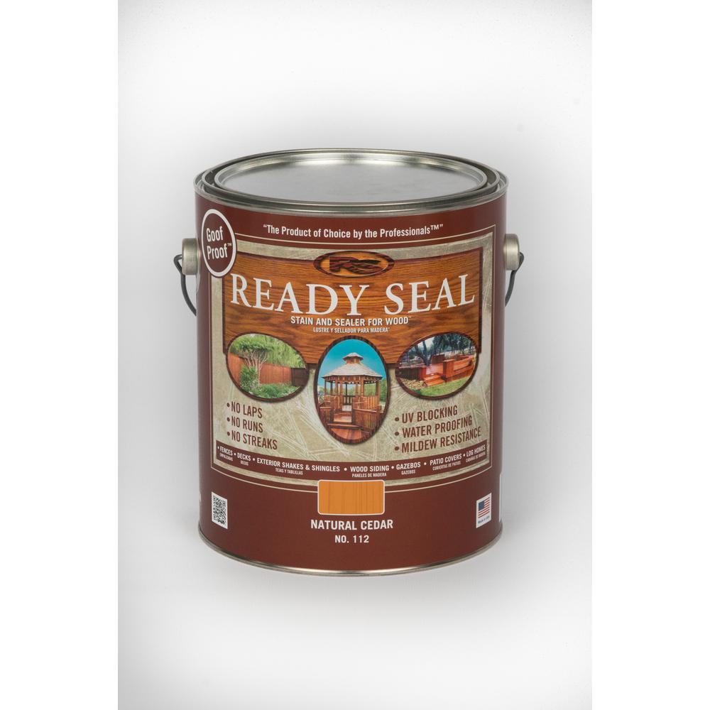 Ready Seal 1 Gal Natural Cedar Exterior Wood Stain And