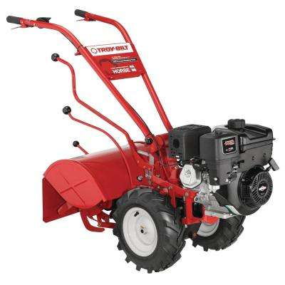 Horse 20 in. 306 cc OHV B&S Engine Rear-Tine Forward-Rotating Gas Tiller with One Hand Operation