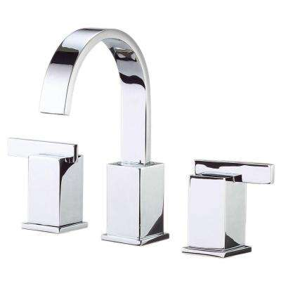 Sirius 8 in. Widespread 2-Handle Mid-Arc Bathroom Faucet in Chrome