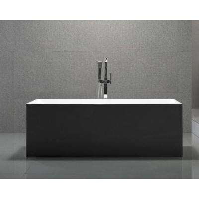 Long Beach 60 in. Acrylic Flatbottom Non-whirlpool Bathtub in Espresso
