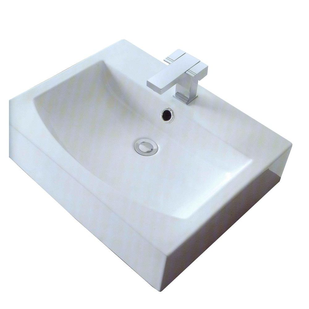 Filament Design Cantrio 3.75 in. Console Sink Basin in White
