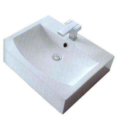 Cantrio 3.75 in. Console Sink Basin in White