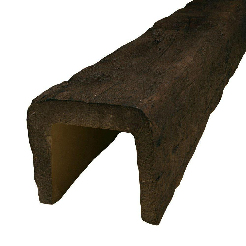 American Pro Decor 7-1/2 in. x 6-5/8 in. x 13 ft. Hand Hewn Faux Wood Beam