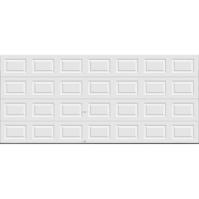 Classic Collection 15 ft. 6 in. x 7 ft. 18.4 R-Value Intellicore Insulated Solid White Garage Door