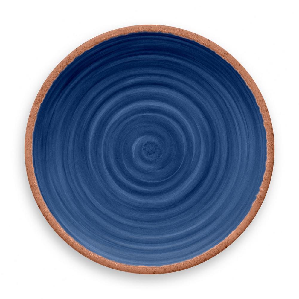 Rustic Swirl Indigo Melamine Dinner Plate (Set of 6)