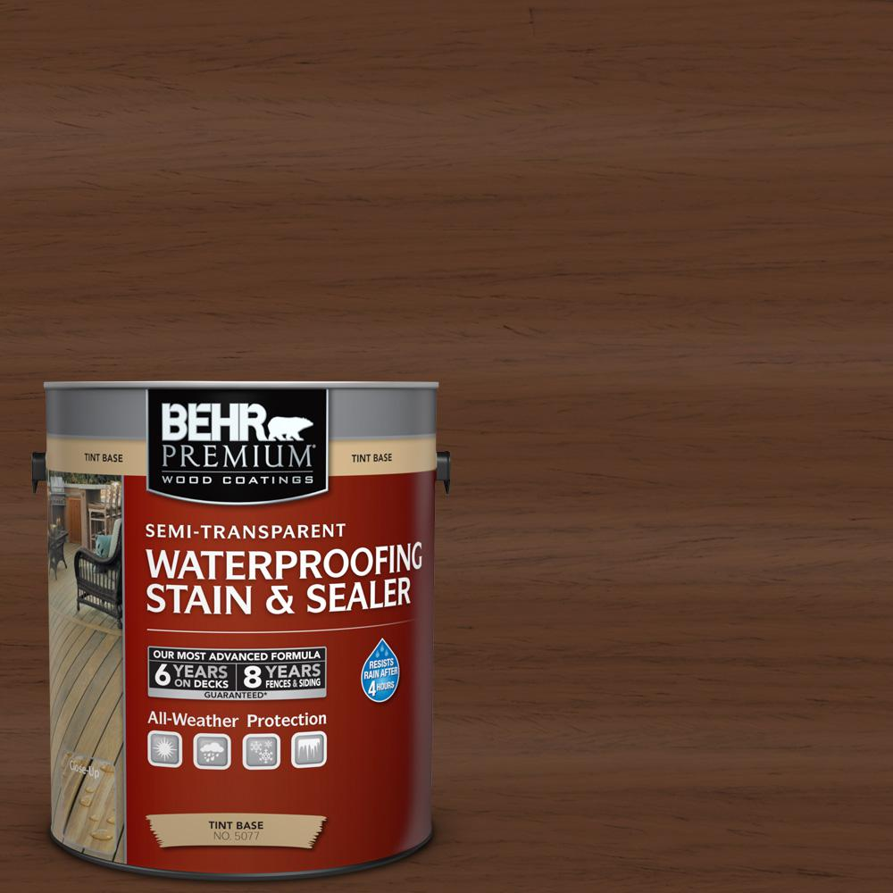 BEHR Premium 1-gal. #ST-135 Sable Semi-Transparent Waterproofing Stain and Sealer