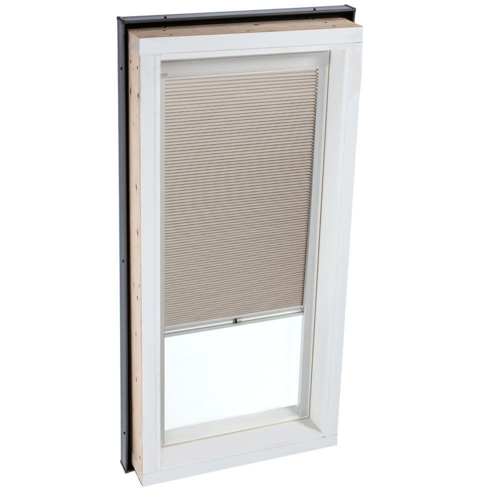 Manual Room Darkening Beige Skylight Blinds for FCM 2246 and QPF