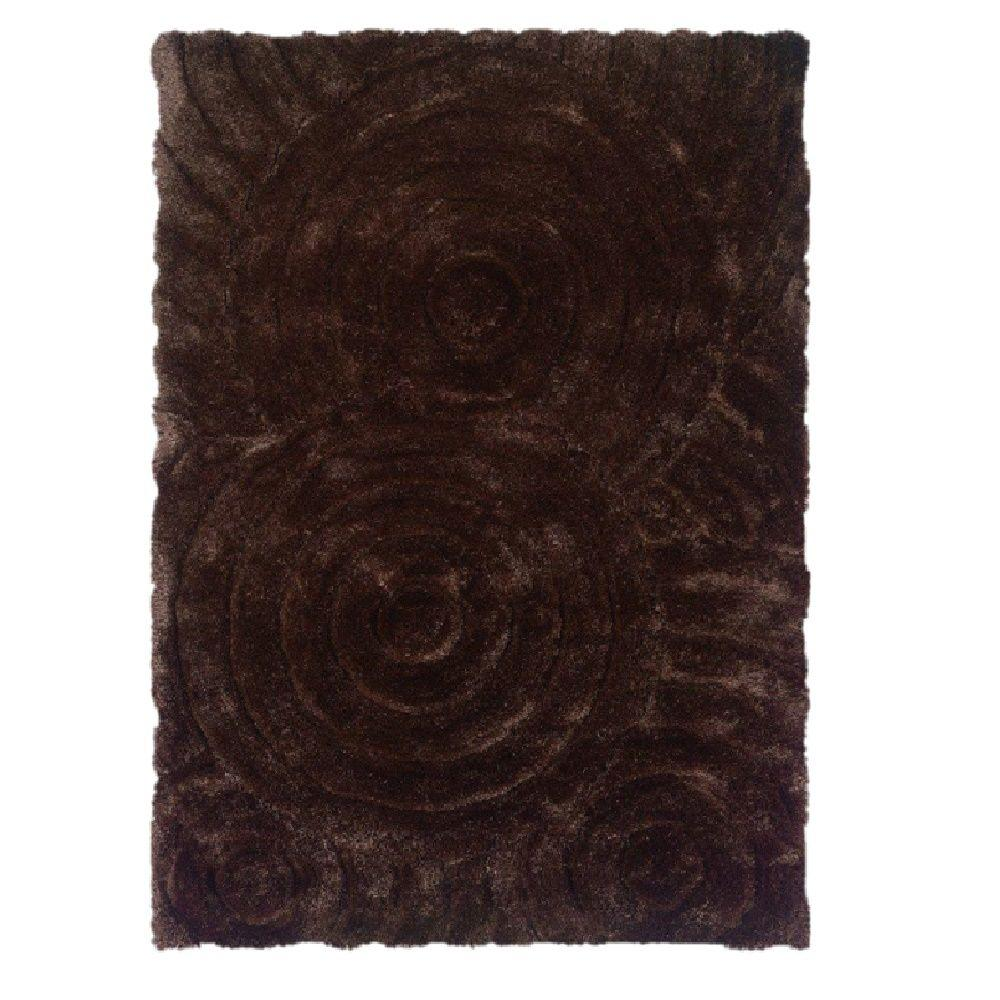 Linon Home Decor Links Collection Chocolate 5 Ft X 7 Ft Indoor Area Rug Rug Lk0257 The Home