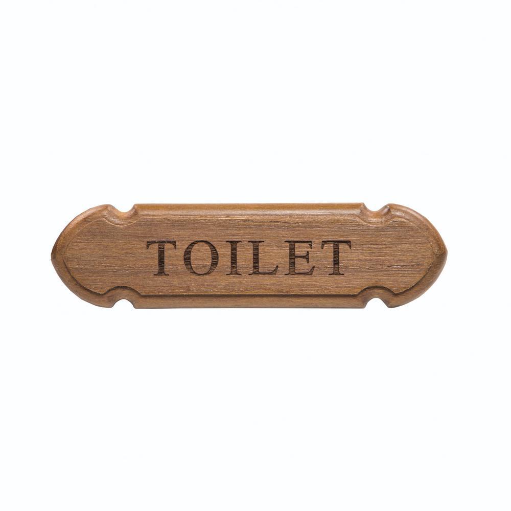 Teak Toilet Name Plate