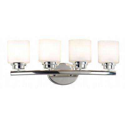 Bow 4-Light Polished Nickel Vanity Light