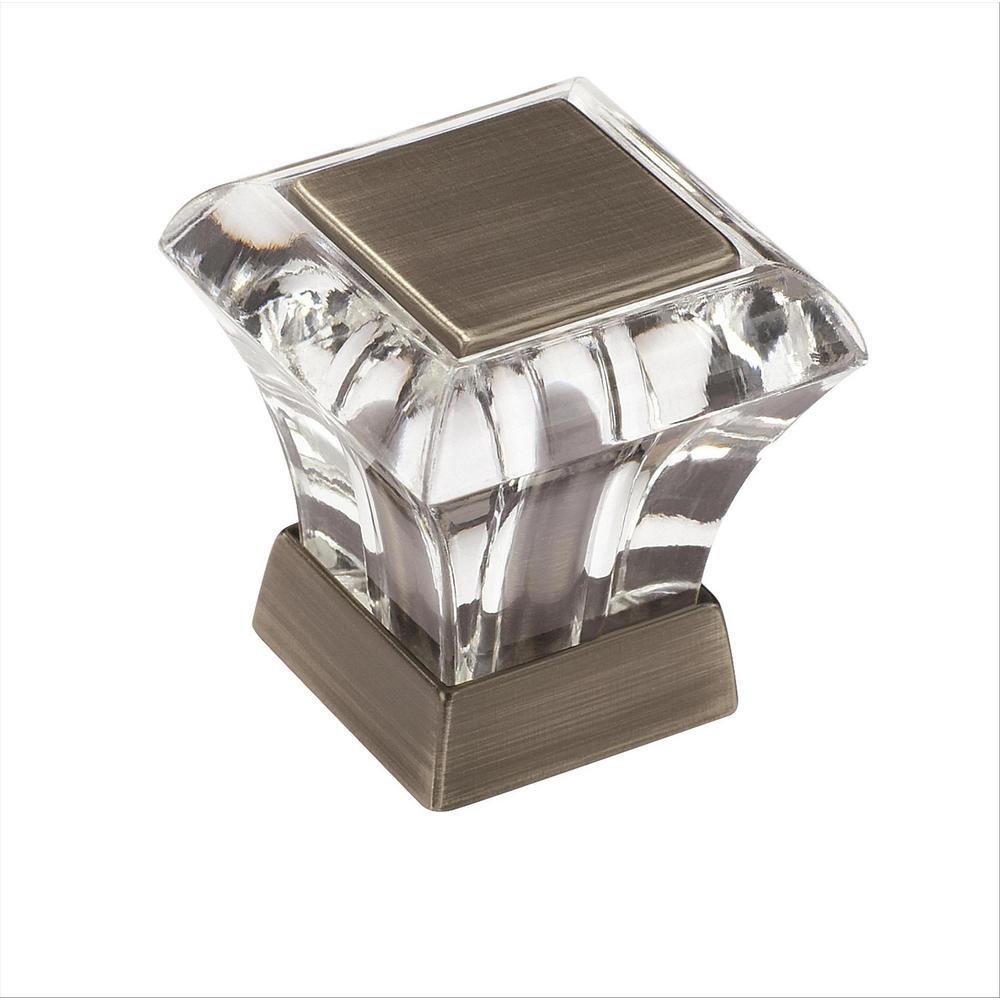 Abernathy 1-1/16 in. L (27 mm) Clear Antique Silver Cabinet Knob