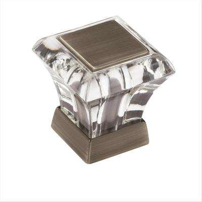 Abernathy 1-1/16 in. L (27 mm) Clear Antique Silver Cabinet Knob
