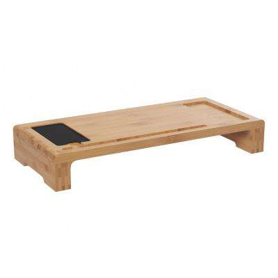 20 In. X 9 In. X 3 In. Bamboo Monitor Stand And Desktop