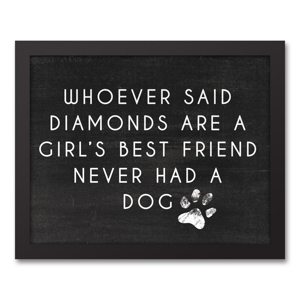 "11 in. x 14 in. ""Girl's Best Friend"" Printed Framed Canvas"
