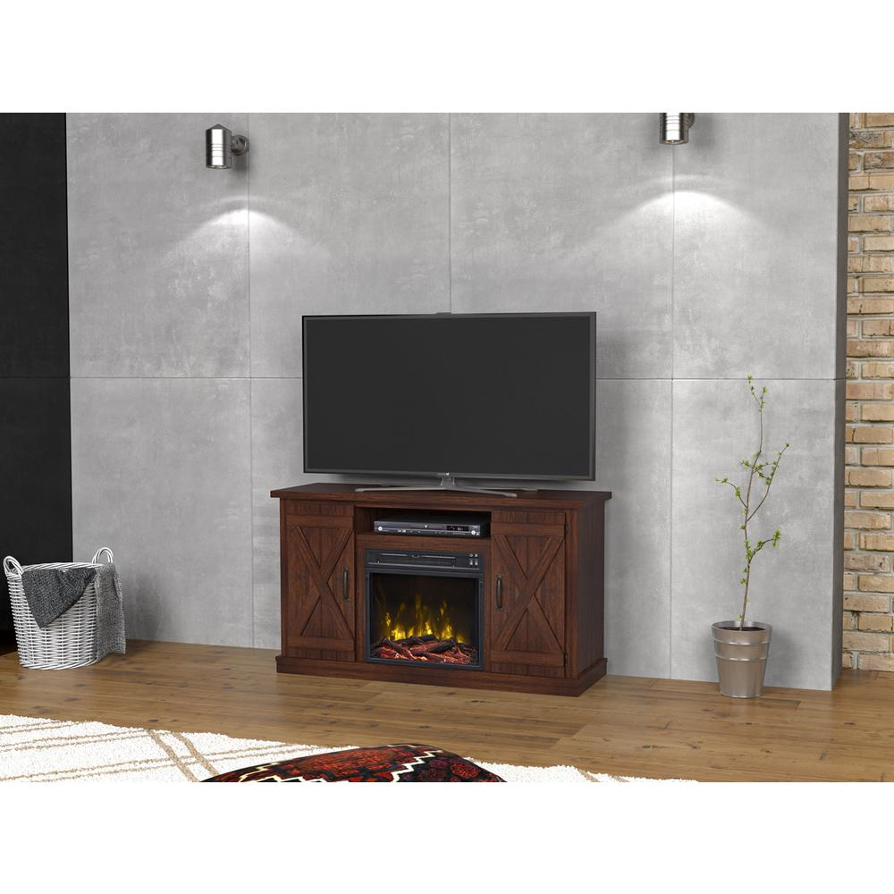classic flame cottonwood 47 50 in media console electric