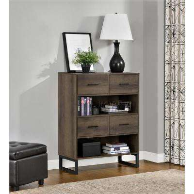 Candon Sonoma Mocha Oak Bookcase