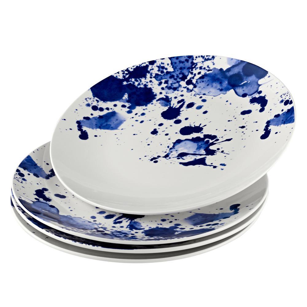 Splatter Blue Dinner Plate (Set of 4)