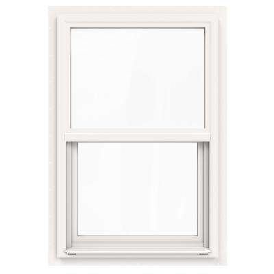 24 in. x 36 in. V-4500 Series White Single-Hung Vinyl Window with Fiberglass Mesh Screen