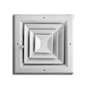 Truaire 10 In X 10 In 4 Way Square Ceiling Diffuser